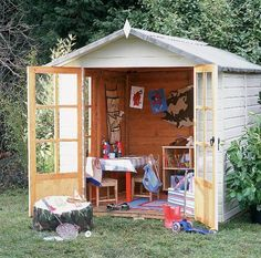 Outdoor classrooms - love this idea - perhaps not practical for a school - but very cool for home or daycare