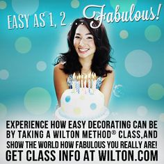 Interested in cake decorating, but don't know where to start? The Wilton Method of Cake Decorating will teach you all of the techniques to make treats that will amaze your friends and family — even if you've never decorated before! Click here to learn more and find a class near you! http://s.wilton.com/1a1FUMo