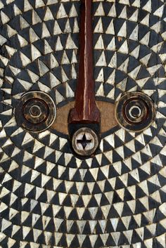 Details from a stunning Moon mask from the Ivory coast | Wood and paint | ca.  1960