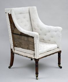 Regency Library Armchair, circa 1810 | From a unique collection of antique and modern armchairs at https://www.1stdibs.com/furniture/seating/armchairs/