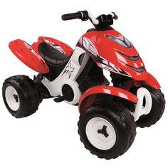 ATV electric Smoby X Power rosu - zizi. Quad, Lawn Mower, Atv, Outdoor Power Equipment, Racing, Toys, Electric, Lawn Edger, Running