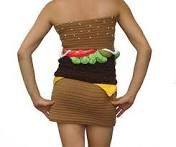 I though that this cheeseburger crochet dress was very funky weird and for some reason it caught my eye.
