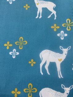 1/2 Yard Organic cotton Monaluna Westwood Deer by ChestnutDesigns