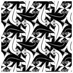 M.C. Escher, discussions on... Translation Rotation Tessellation