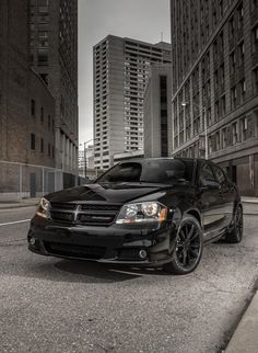 2013 Avenger Blacktop Edition Dodge, this is what I want to do to mine, black rims and tint!