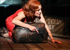 Photo of Jeremy Jordan as Clyde Barrow and Laura Osnes as Bonnie Parker in Bonnie & Clyde. Bonnie And Clyde Musical, Bonnie And Clyde Photos, Bonnie Clyde, Broadway Theatre, Musical Theatre, Laura Osnes, Bonnie Parker, Theatre Nerds, Theater