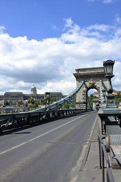 The Chain Bridge in Budapest, Hungary. #travel