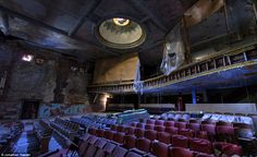 Derelict: Abandoned Sattler Theatre in Buffalo, New York, was built in 1914 and used as a church in the years before it became abandoned