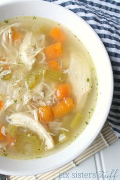 Instant Pot Healthy Chicken Vegetable Soup | Six Sisters' Stuff