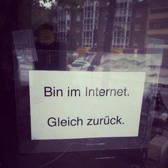 Bin im Internet. Satire, Berlin, German Quotes, Page Online, Internet, Humor, Just For Laughs, Presentation, Cinema