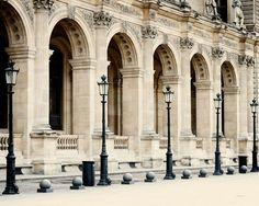 Paris Photograph - Louvre Print - Parisian Architecture  - from Vita Nostra Photography