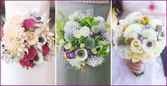 Wedding Bouquet von Anemonen: eine Kombination der Optionen mit den anderen Farben, Fotos