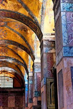 Hagia Sophia Columns, Istanbul, Turkey
