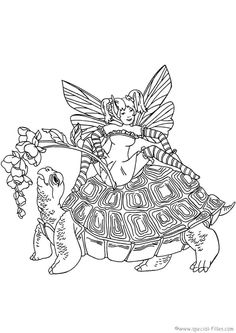 fairies 999 coloring pages hibiscus