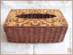 Плетение вязанные корзины Бумага газетная фото 7