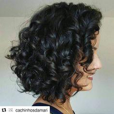 Repost com inspirao linda demais para cabelos ondulados curtinhos! Cadhellip