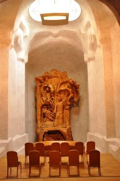 The Representative of Man Sculpture Rudolf Steiner created.