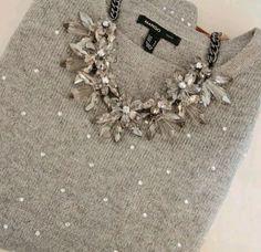 Collana pietre grigie, simil Zara. Fantastica x ogni Look.