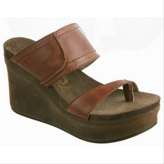 Brookfield by OTBT in saddle.  This wedge is a spring summer must have for any and all occasions!