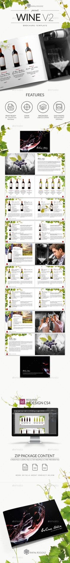 Wine Brochure v2 - #Brochures Print Templates Download Here: https://graphicriver.net/item/wine-brochure-v2/18632397?ref=suz_562geid