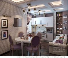 Дизайн маленькой кухни-столовой