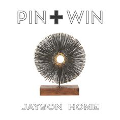 "Jayson Home Pin + Win Contest. Enter for your chance to win this Sur Sculpture.    How to enter:  1. Go to www.pinterest.com/jaysonhome and follow all Jayson Home boards by clicking ""Follow All.""  2. Repin this product from the ""w i n n i n g !"" board from the Jayson Home Pinterest page.    Contest ends at 4:00 pm CT on June 14, 2012. For more information visit: http://www.jaysonhome.com/customer-center/pin-and-win-contest?utm_source=Jayson+Home_campaign=Pinterest_2012_06_Contest_medium=Pi"