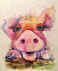 Pig painting - gallery – Sophie Huddlestone