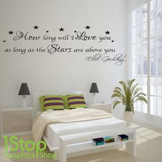 ELLIE GOULDING HOW LONG WILL I LOVE YOU WALL STICKER QUOTE - WALL ART DECAL X83