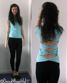 DIY: bow back shirt