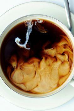milk & coffee, my favorite way to drink it!