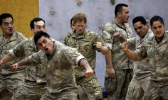 Britain's Prince Harry performs the haka with soldiers from the 1st New Zealand Brigade during his visit to Linton Military Camp near Palmerston North, May 13, 2015. Prince Harry is on a week-long tour of New Zealand. REUTERS/Anthony Phelps