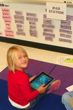 Mrs. King's Music Room: Centers: iPad