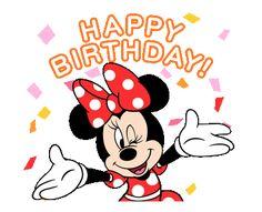 Disney Birthday Wishes, Birthday Wishes Flowers, Happy Birthday Wishes Images, Cute Happy Birthday, Happy Birthday Wishes Quotes, Happy Birthday Video, Mickey Birthday, Happy Birthday Cards, Birthday Greetings