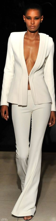 beautiful cut on this suit: brandon maxwell spring 2016 rtw