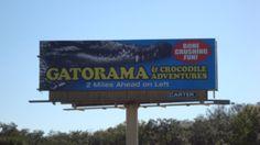 Sign advertising Gatorama near Palmdale, Florida on US-27