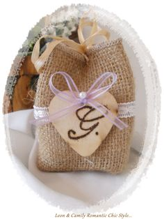 Jute bag holder for Country Chic Wedding
