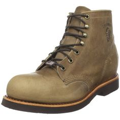 """Chippewa Men's 20068 6"""" Rodeo Steel Toe Lace-Up Boot Chippewa. $159.00. Made in USA. leather. Removable cushion insert. Vibram sole. Drill vamp lining"""