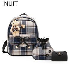 d726211418bd8 Rucksack Frauen Plaid Rucksack Leinwand Blume Schultaschen Schule Rucksäcke  Schultertasche für Teenager Mädchen Mode Taschen Geldbörse