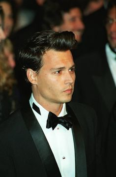 Men's Slicked Back Hair Johnny Depp #AY
