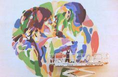 "Mural ""El beso"" http://www.elartistaylaprincesa.com/"