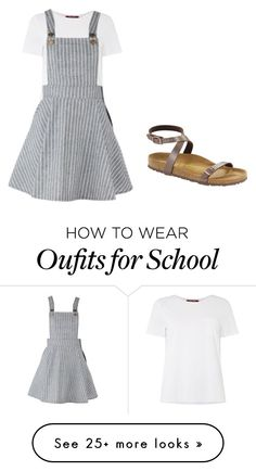 """""""School"""" by apart-reese on Polyvore featuring MaxMara and Birkenstock"""
