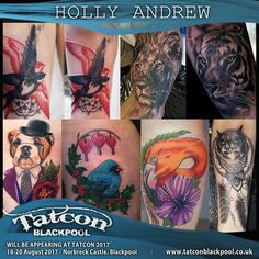 We're so excited for our fabulous friend Holly! This Tatcon Blackpool will be the first EVER convention that she will be tattooing clients at! It's so exciting that the first con she will be working is the con we help co-organise! She'll also be selling prints and being her general hilarious self, so make sure to throw a cheeky smile her way if you're passing the Inkden stall!