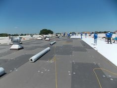 TPO Membrane Roofing On Roof