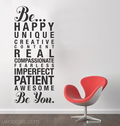 """Be You"" wall decal"
