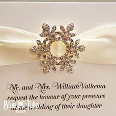 Crystal Snowflake Wedding Invitation