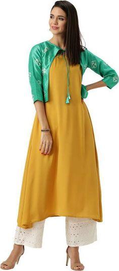 13a9710652911 Details about Women indian kurta kurti Long shrug Dress top tees bottom  Floral gown new-nk424