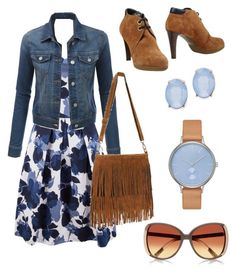 """""""Sunday morning"""" by ares-and-aphrodite on Polyvore featuring Closet, LE3NO, Sergio Rossi, Cara, Skagen and River Island"""