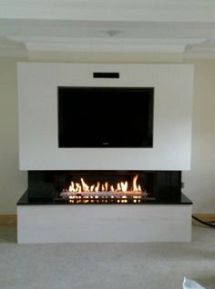 Newest Photographs Fireplace Hearth granite Suggestions Gazco Studio 2 Gas Fire installed into a false chimney breast with a recess for the tv. Living Room Decor Fireplace, Fireplace Tv Wall, Modern Fireplace, Fireplace Ideas, Modern Tv Room, Living Room Modern, Living Room Designs, Feature Wall Living Room, New Living Room
