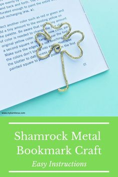 Make a Shamrock Wire Bookmark for a fun St Paddy's day bookmark craft. And these St Patrick's Day Art metal bookmarks make great reading bookmark gifts. Wire Bookmarks, Bookmark Craft, How To Make Bookmarks, Shamrock Template, Saint Patricks Day Art, Reading Bookmarks, St Paddys Day, Day Book, Wire Weaving