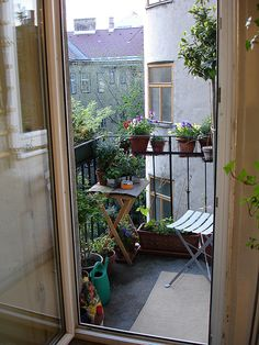 small balcony porch